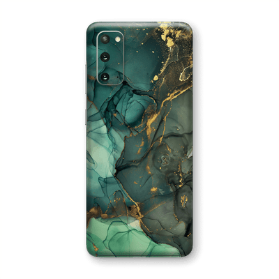 Samsung Galaxy S20 SIGNATURE AGATE GEODE Royal Green-Gold Skin, Wrap, Decal, Protector, Cover by EasySkinz | EasySkinz.com