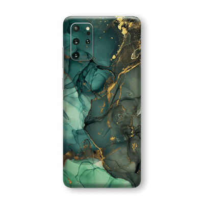 Samsung Galaxy S20+ PLUS SIGNATURE AGATE GEODE Royal Green-Gold Skin, Wrap, Decal, Protector, Cover by EasySkinz | EasySkinz.com