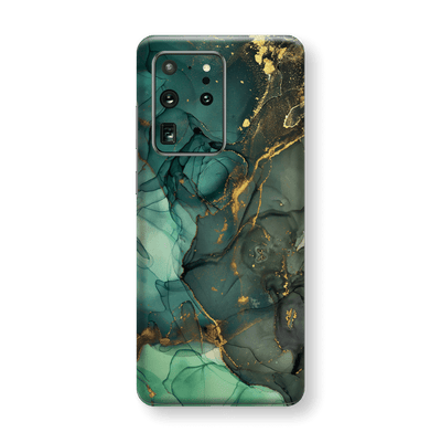 Samsung Galaxy S20 ULTRA SIGNATURE AGATE GEODE Royal Green-Gold Skin, Wrap, Decal, Protector, Cover by EasySkinz | EasySkinz.com