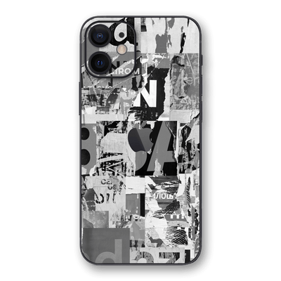 iPhone 12 SIGNATURE Black & White Poster Skin, Wrap, Decal, Protector, Cover by EasySkinz | EasySkinz.com