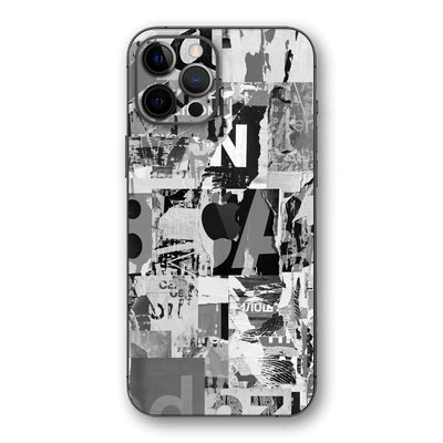 iPhone 12 PRO SIGNATURE Black & White Poster Skin, Wrap, Decal, Protector, Cover by EasySkinz | EasySkinz.com