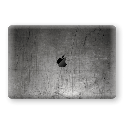 "MacBook PRO 16"" (2019) Print Custom Signature Industrial Scratched Worn Metal Skin Wrap Decal by EasySkinz"