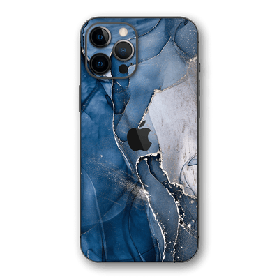 iPhone 12 PRO SIGNATURE AGATE GEODE Dark Blue Skin, Wrap, Decal, Protector, Cover by EasySkinz | EasySkinz.com