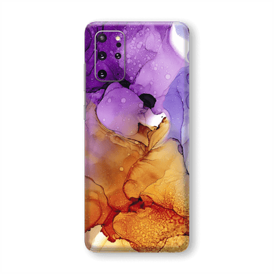 Samsung Galaxy S20+ PLUS SIGNATURE AGATE GEODE Amber-Purple Skin, Wrap, Decal, Protector, Cover by EasySkinz | EasySkinz.com