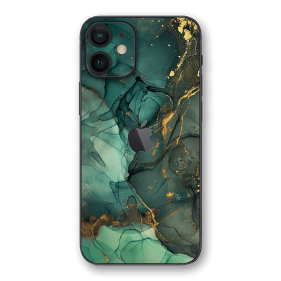 iPhone 12 SIGNATURE AGATE GEODE Royal Green-Gold Skin, Wrap, Decal, Protector, Cover by EasySkinz | EasySkinz.com