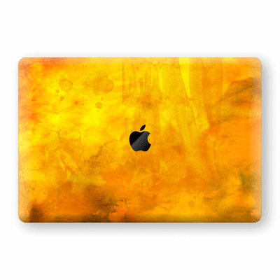 "MacBook Pro 15"" Touch Bar Print Custom Signature Abstract Orange Paint 13 Skin Wrap Decal by EasySkinz - Design 13"