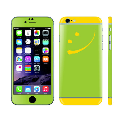 iPhone 6S Custom Colorful Design Edition Smile 007 Skin Wrap Sticker Cover Decal Protector by EasySkinz
