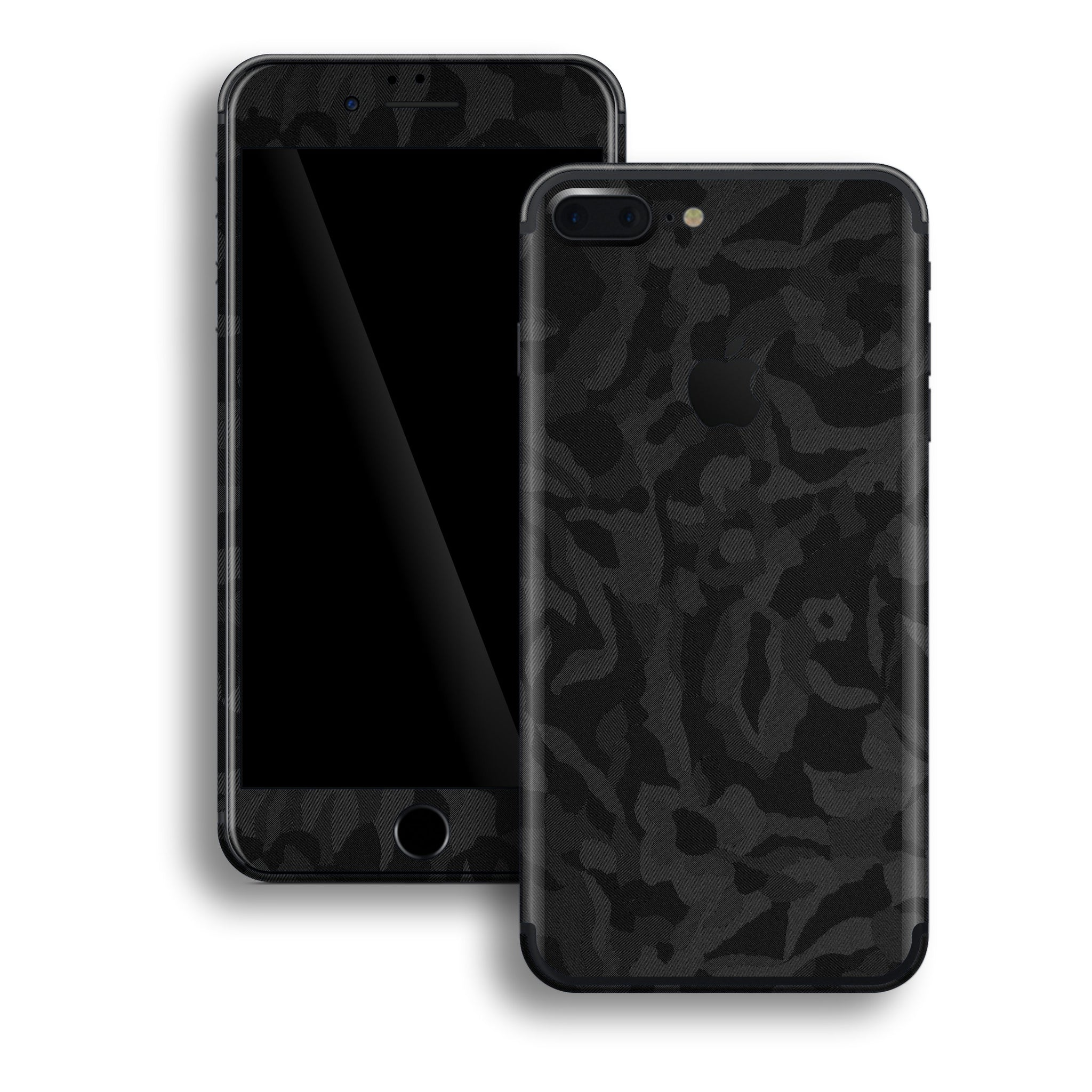 iPhone 7 PLUS Luxuria Black 3D Textured Camo Camouflage Skin Wrap Decal Protector | EasySkinz