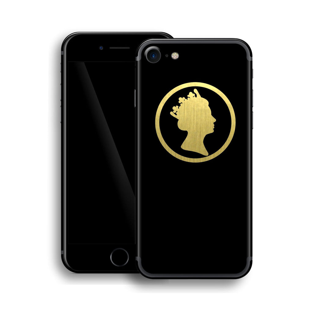 iPhone 7 QUEEN Custom Design Matt Black Skin Wrap Decal Protector Cover | EasySkinz