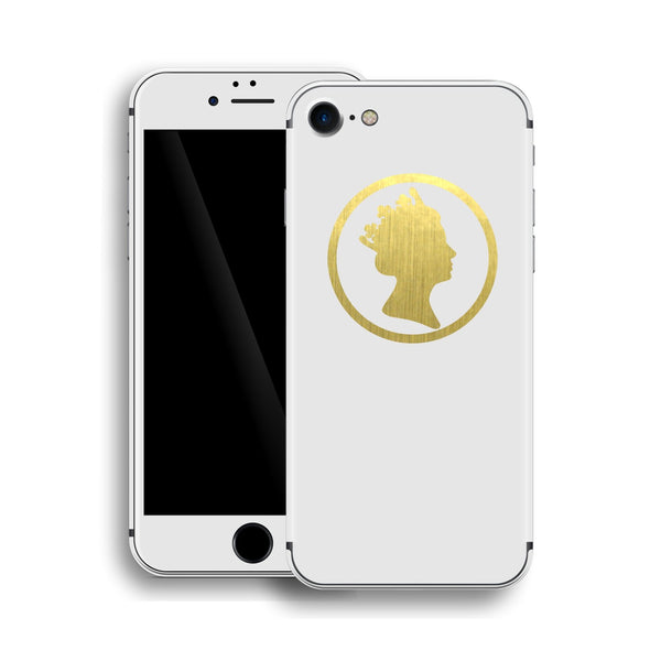 iPhone 8 QUEEN Custom Design Matt White Skin Wrap Decal Protector Cover | EasySkinz