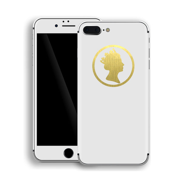 iPhone 8 Plus QUEEN Custom Design Matt White Skin Wrap Decal Protector Cover | EasySkinz