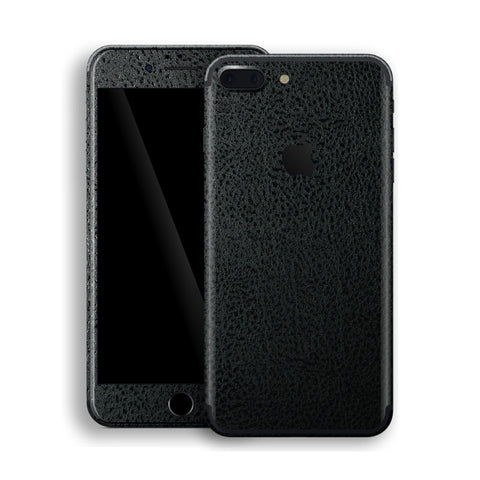 iPhone 7 PLUS Luxuria Black Leather Skin Wrap Decal Protector | EasySkinz