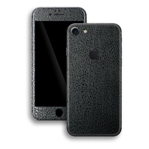 iPhone 7 Luxuria Black Leather Skin Wrap Decal Protector | EasySkinz