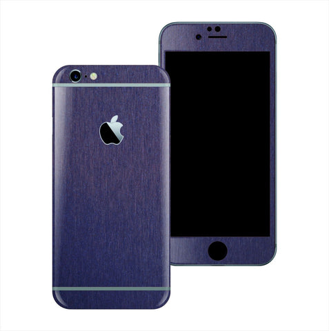 iPhone 6S PLUS 3M Brushed Steel Blue Metallic Skin Wrap Sticker Cover Protector Decal by EasySkinz