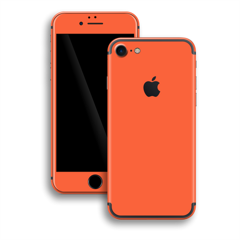 iPhone 7 Gloss Glossy CORAL Skin, Wrap, Decal, Protector, Cover by EasySkinz | EasySkinz.com
