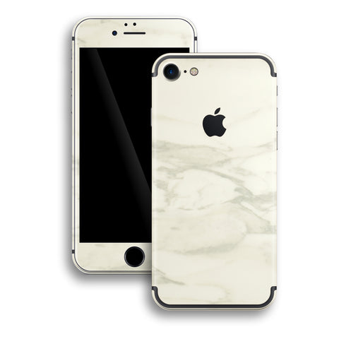 iPhone 7 Marble White Marble Skin Wrap Decal Protector | EasySkinz