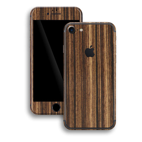 iPhone 7 Luxuria Zebrano Wood Wooden Skin Wrap Decal Protector | EasySkinz
