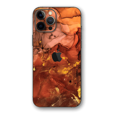 iPhone 12 Pro MAX SIGNATURE AGATE GEODE Flaming Nebula Skin, Wrap, Decal, Protector, Cover by EasySkinz | EasySkinz.com