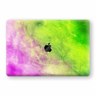"MacBook Pro 13"" (No Touch Bar) Print Custom Signature Abstract Watercolour Pink Green 12 Skin Wrap Decal by EasySkinz - Design 12"