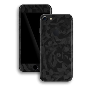 iPhone 8 Luxuria Black 3D Textured Camo Camouflage Skin Wrap Decal Protector | EasySkinz