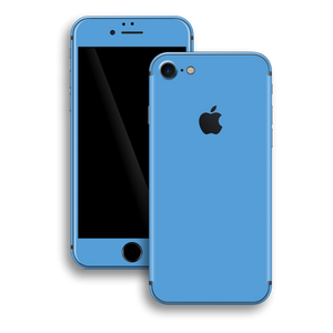 iPhone 8 Gloss Glossy SKY BLUE Skin, Wrap, Decal, Protector, Cover by EasySkinz | EasySkinz.com