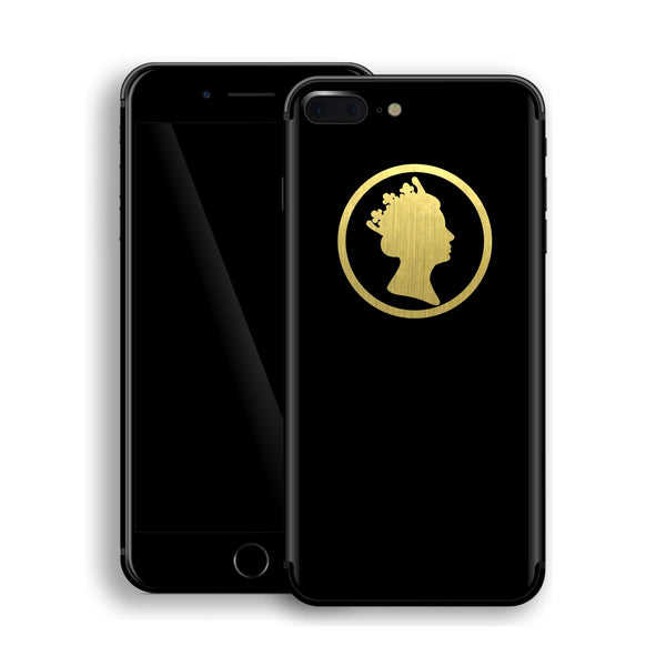 iPhone 8 Plus QUEEN Custom Design Matt Black Skin Wrap Decal Protector Cover | EasySkinz