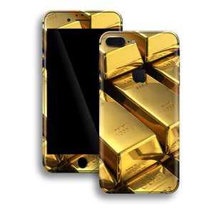 iPhone 8 PLUS Print Custom Signature 24K Gold Golden Skin Wrap Decal by EasySkinz