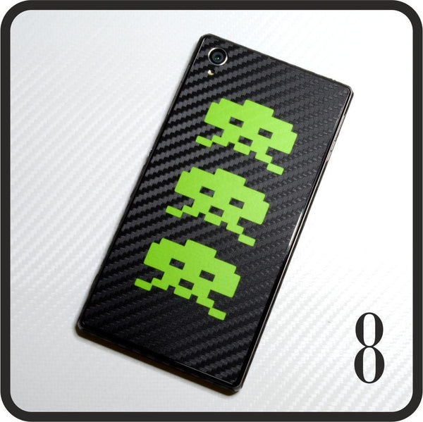 Sony Xperia Z1 carbon fibre and matt green skin design 8