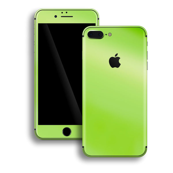 iPhone 8 Plus Apple Green Pearl Gloss Finish Skin, Decal, Wrap, Protector, Cover by EasySkinz | EasySkinz.com