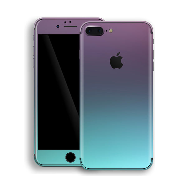 iPhone 8 Plus Chameleon Turquoise Lavender Colour-Changing Skin, Decal, Wrap, Protector, Cover by EasySkinz | EasySkinz.com