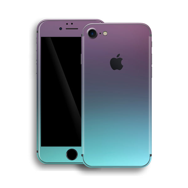 iPhone 8 Chameleon Turquoise Lavender Colour-changing Skin, Wrap, Decal, Protector, Cover by EasySkinz | EasySkinz.com