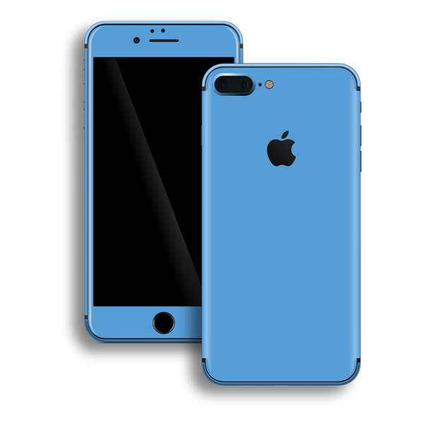 iPhone 8 Plus Gloss Glossy SKY BLUE Skin, Decal, Wrap, Protector, Cover by EasySkinz | EasySkinz.com