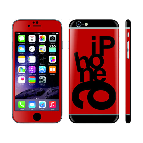 iPhone 6 Custom Colorful Design Edition Mixed Letters 008 Skin Wrap Sticker Cover Decal Protector by EasySkinz