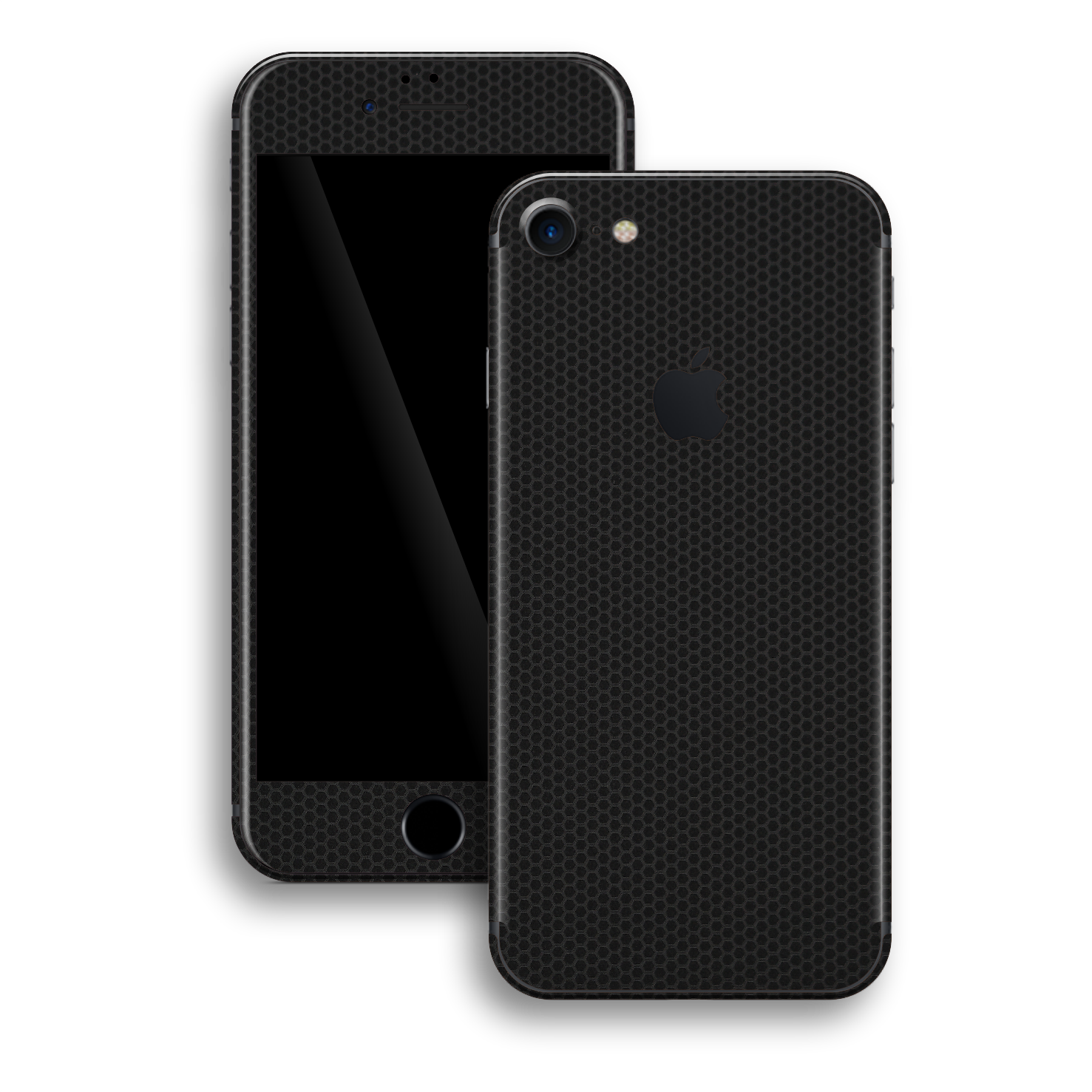 iPhone 8 Black Matrix Textured Skin Wrap Decal 3M by EasySkinz