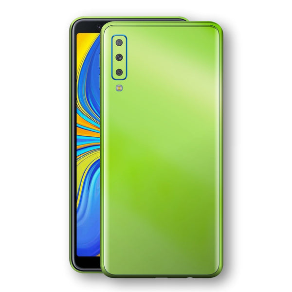 Samsung Galaxy A7 (2018) Apple Green Pearl Gloss Finish Skin Wrap Decal Cover by EasySkinz