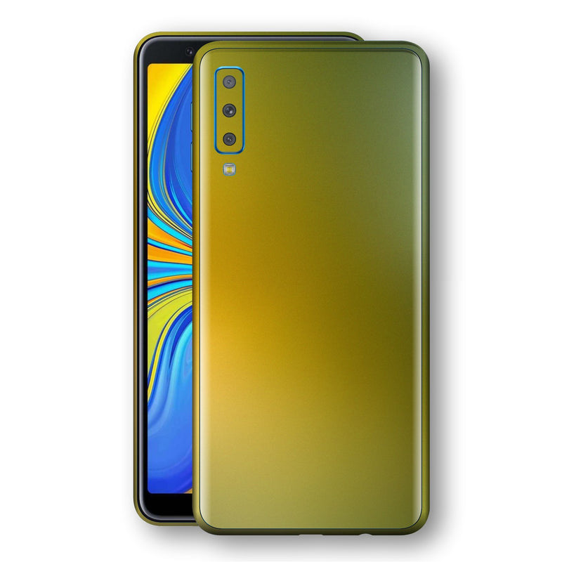 Samsung Galaxy A7 (2018) Chameleon NEPHRITE-GOLD Skin Wrap Decal Cover by EasySkinz