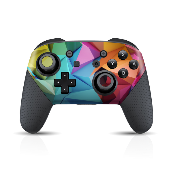 Nintendo Switch Pro Controller Print Printed Custom SIGNATURE ABSTRACT Geometry Skin Wrap Sticker Decal Cover Protector by EasySkinz