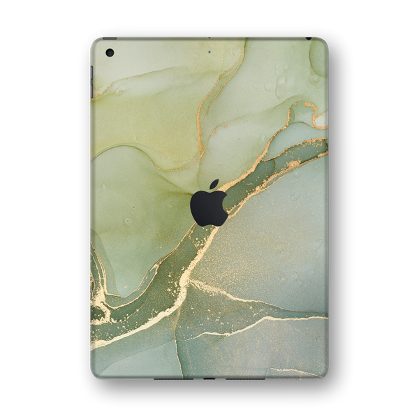 "iPad 10.2"" (7th Gen, 2019) SIGNATURE AGATE GEODE Green-Gold Skin Wrap Sticker Decal Cover Protector by EasySkinz"