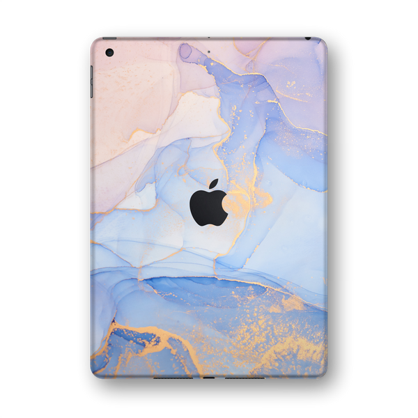 "iPad 10.2"" (7th Gen, 2019) SIGNATURE AGATE GEODE Pastel-Gold Skin Wrap Sticker Decal Cover Protector by EasySkinz"