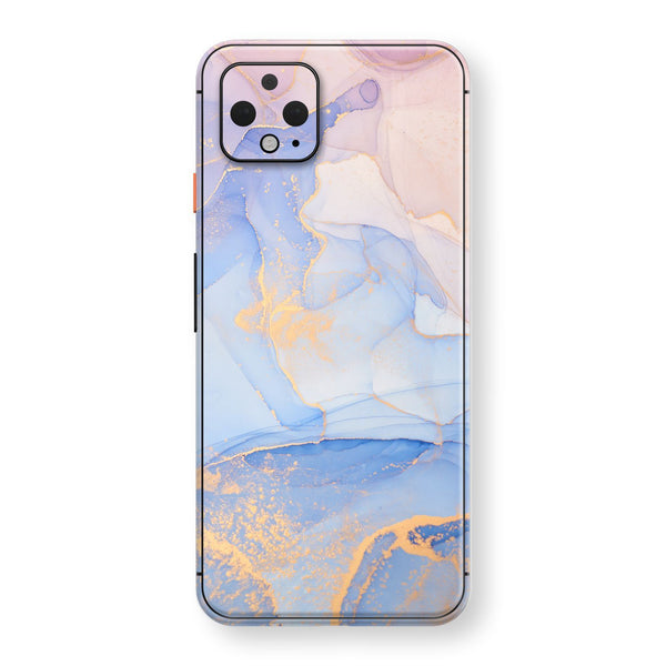 Google Pixel 4 Print Custom SIGNATURE AGATE GEODE Pastel-Gold Skin, Wrap, Decal, Protector, Cover by EasySkinz | EasySkinz.com