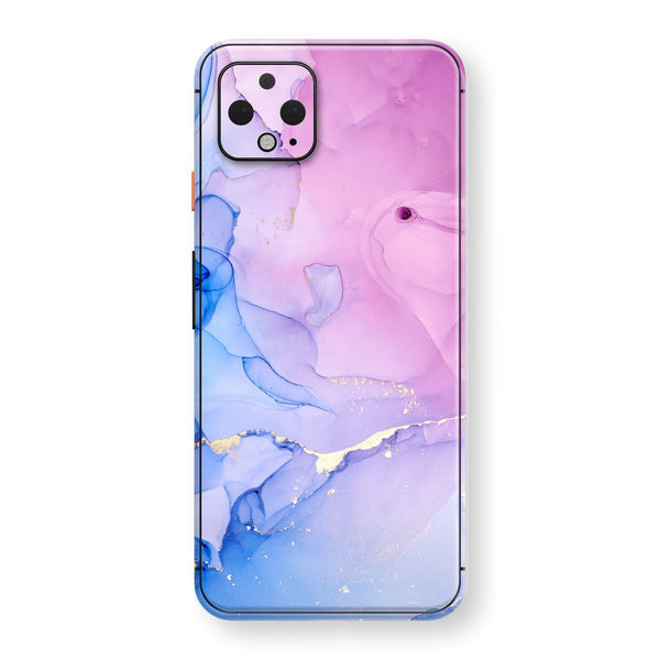 Google Pixel 4 Print Custom SIGNATURE AGATE GEODE Pink-Blue Skin, Wrap, Decal, Protector, Cover by EasySkinz | EasySkinz.com