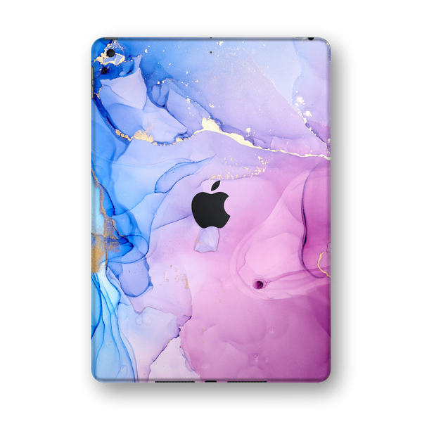 "iPad 10.2"" (7th Gen, 2019) SIGNATURE AGATE GEODE Pink-Blue Skin Wrap Sticker Decal Cover Protector by EasySkinz"
