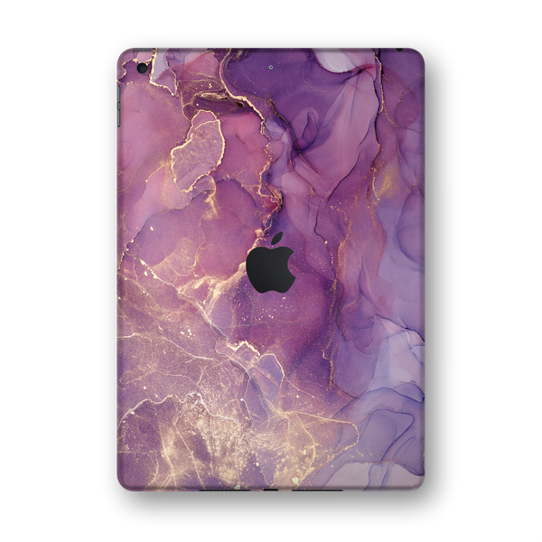 "iPad 10.2"" (7th Gen, 2019) SIGNATURE AGATE GEODE Purple-Gold Skin Wrap Sticker Decal Cover Protector by EasySkinz"