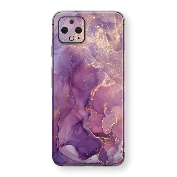 Google Pixel 4 XL Print Custom SIGNATURE AGATE GEODE Purple-Gold Skin, Wrap, Decal, Protector, Cover by EasySkinz | EasySkinz.com