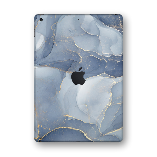 "iPad 10.2"" (7th Gen, 2019) SIGNATURE AGATE GEODE Blue-Gold Skin Wrap Sticker Decal Cover Protector by EasySkinz"