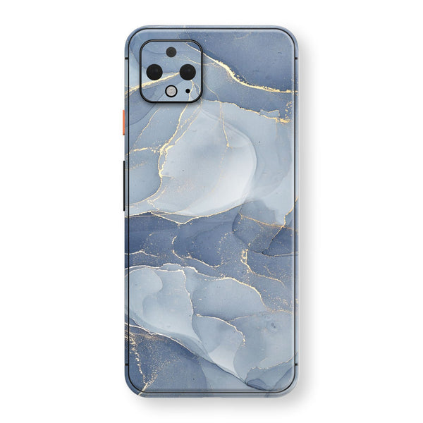 Google Pixel 4 XL Print Custom SIGNATURE AGATE GEODE Steel Blue-Gold Skin, Wrap, Decal, Protector, Cover by EasySkinz | EasySkinz.com