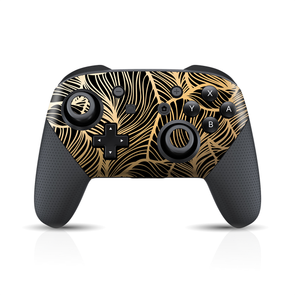 Nintendo Switch Pro Controller Print Printed Custom SIGNATURE Abstract Royal Floral Skin Wrap Sticker Decal Cover Protector by EasySkinz