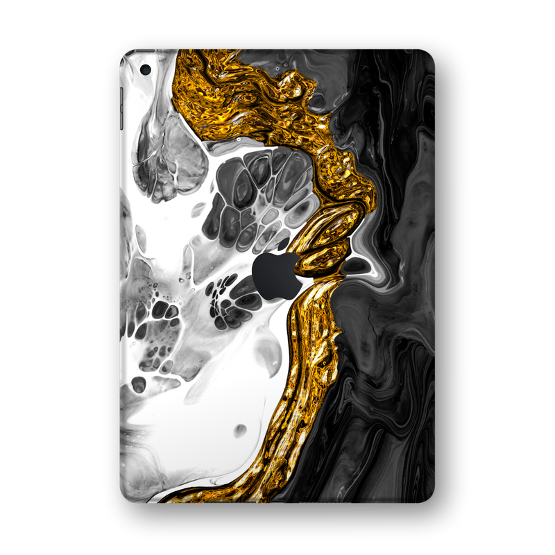 "iPad 10.2"" (7th Gen, 2019) SIGNATURE Abstract MELTED Gold Skin Wrap Sticker Decal Cover Protector by EasySkinz"