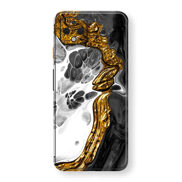 Google Pixel 4 XL Print Custom SIGNATURE Abstract MELTED Gold Skin, Wrap, Decal, Protector, Cover by EasySkinz | EasySkinz.com