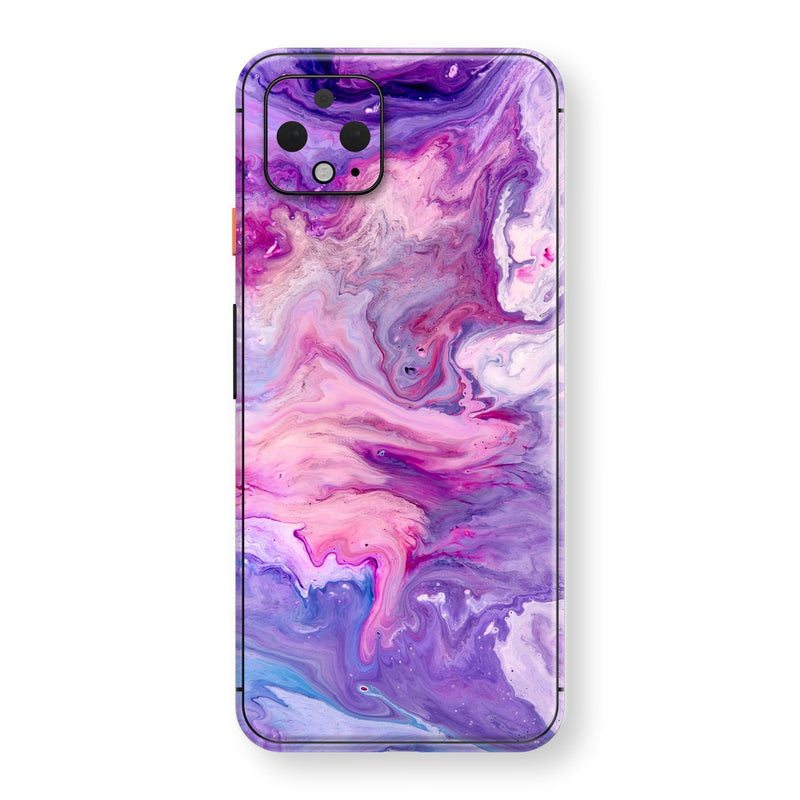 Google Pixel 4 Print Custom SIGNATURE Abstract PURPLE Paint Skin, Wrap, Decal, Protector, Cover by EasySkinz | EasySkinz.com